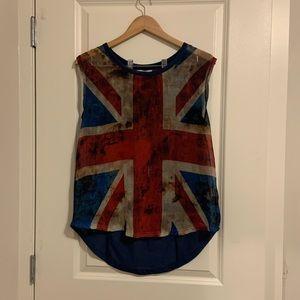 🌈Zara Trafaluc Long Back  sleeveless shirt sz M